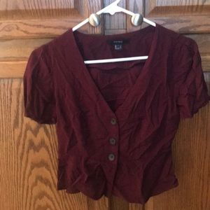 Forever 21 buttoned crop top